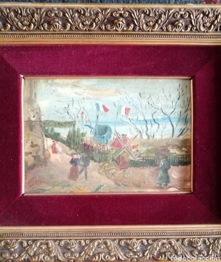 Arte: Leonie Lebas siglo XIX y XX. Óleo sobre lienzo firmado. - Foto 10 - 176201592