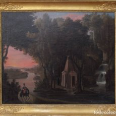 Arte: LEOPOLDO LÓPEZ DE GONZALO. PAISAJE S. XIX. Lote 176366757