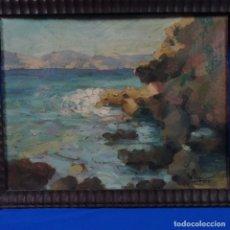 Arte: OLEO SOBRE CARTÓN DE MIGUEL VAQUER CALUMARTE.1925. Lote 176451603