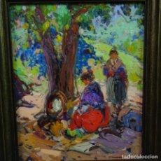 Arte: OLEO SOBRE TABLA ESCUELA VALENCIANA.FIRMA ILEGIBLE.BUEN TRAZO.MAESTRO.BIEN ENMARCADO.. Lote 176452693