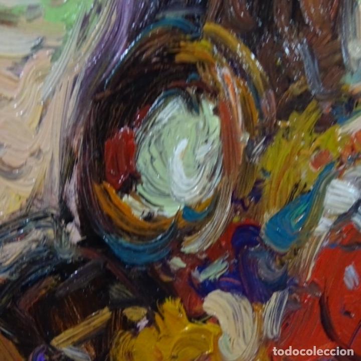 Arte: Oleo sobre tabla escuela valenciana.firma ilegible.buen trazo.maestro.bien enmarcado. - Foto 5 - 176452693