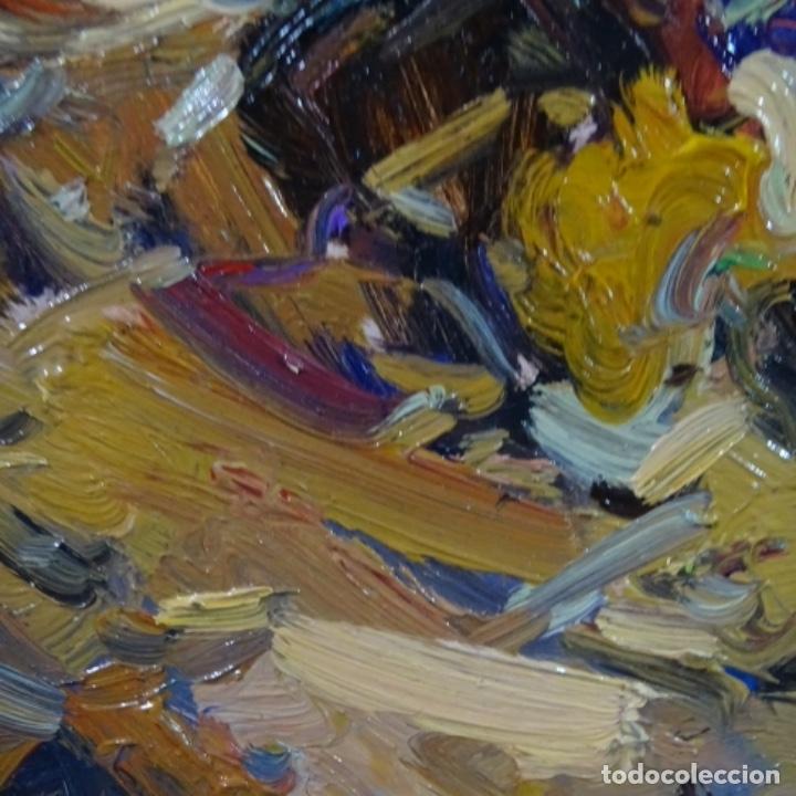 Arte: Oleo sobre tabla escuela valenciana.firma ilegible.buen trazo.maestro.bien enmarcado. - Foto 6 - 176452693