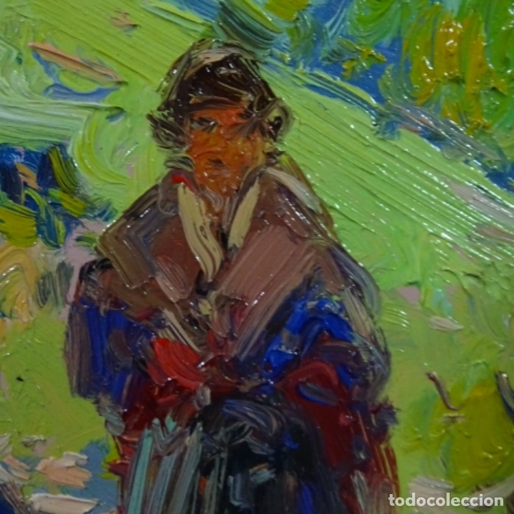 Arte: Oleo sobre tabla escuela valenciana.firma ilegible.buen trazo.maestro.bien enmarcado. - Foto 8 - 176452693