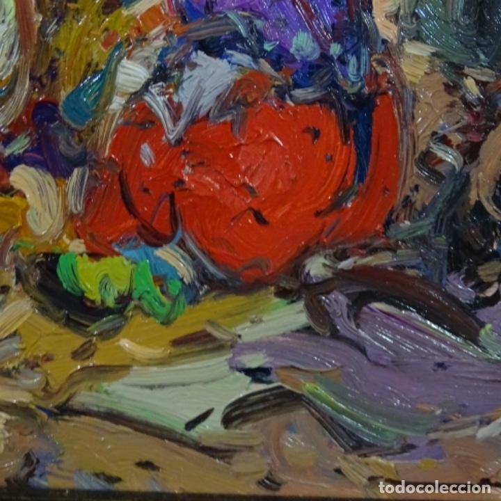 Arte: Oleo sobre tabla escuela valenciana.firma ilegible.buen trazo.maestro.bien enmarcado. - Foto 10 - 176452693