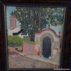 Arte: OLEO SOBRE CARTÓN CON FIRMA ILEGIBLE.BUEN TRAZO. Lote 176454952