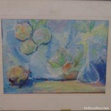Arte: OLEO Y TEMPLE SOBRE CARTÓN CON FIRMA ILEGIBLE.BUEN TRAZO.BODEGON.. Lote 176455063