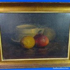 Arte: OLEO Y TEMPLE SOBRE TABLA CON FIRMA ILEGIBLE.BUEN TRAZO.BODEGON.. Lote 176455113