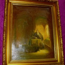 Arte: EXCELENTE PINTURA A, MIRO 1980 FIRMADO ¿ OLEO SOBRE LIENZO (((56 X 34 CTMS CON MARCO ))) . Lote 176469030