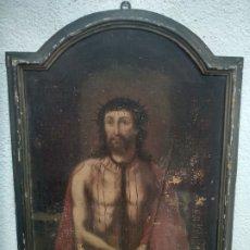Arte: ÓLEO ECCE HOMO ,XVII XVIII ESCUELA ESPAÑOLA.. Lote 176497079
