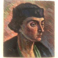Arte: RETRATO 1935. VANGUARDIAS. SURREALISMO. FIRMA ILEGIBLE. PARECE LEERSE ALFONSO BUÑUEL.. Lote 176522654