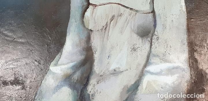 Arte: RETRATO DE JOVEN. ÓLEO SOBRE LIENZO. RAMÓN AGUILAR MORÉ. SIGLO XX. - Foto 2 - 176530572