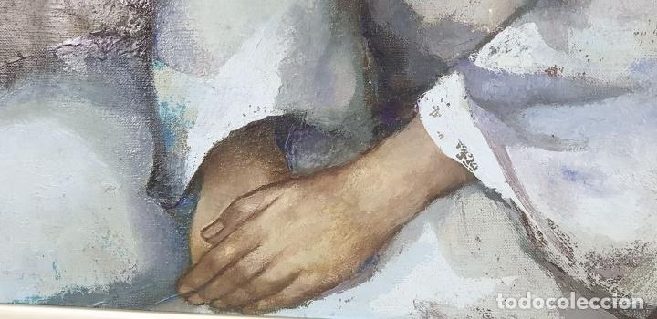 Arte: RETRATO DE JOVEN. ÓLEO SOBRE LIENZO. RAMÓN AGUILAR MORÉ. SIGLO XX. - Foto 4 - 176530572