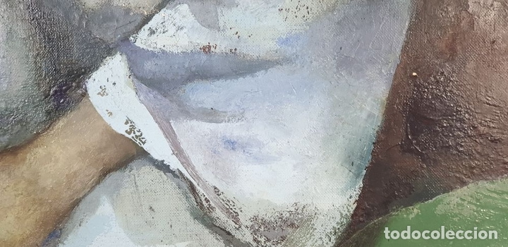 Arte: RETRATO DE JOVEN. ÓLEO SOBRE LIENZO. RAMÓN AGUILAR MORÉ. SIGLO XX. - Foto 5 - 176530572