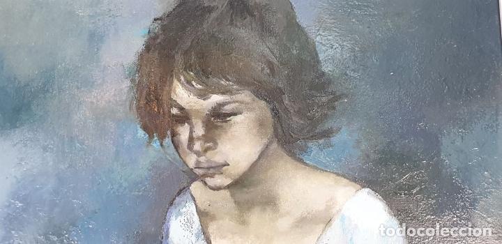 Arte: RETRATO DE JOVEN. ÓLEO SOBRE LIENZO. RAMÓN AGUILAR MORÉ. SIGLO XX. - Foto 6 - 176530572