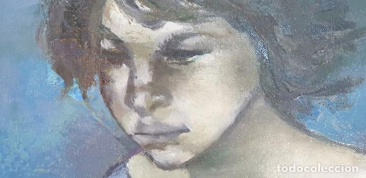 Arte: RETRATO DE JOVEN. ÓLEO SOBRE LIENZO. RAMÓN AGUILAR MORÉ. SIGLO XX. - Foto 7 - 176530572