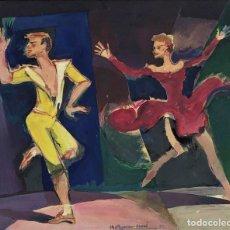 Arte: RAMON AGUILAR MORÉ (BARCELONA, 1924 - 2015) - ESCENA DE BAILE - ACRÍLICO. Lote 176548520