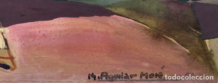 Arte: Ramon Aguilar Moré (Barcelona, 1924 - 2015) - Escena de baile - Acrílico - Foto 3 - 176548520