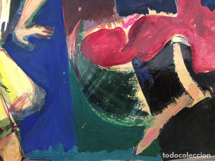 Arte: Ramon Aguilar Moré (Barcelona, 1924 - 2015) - Escena de baile - Acrílico - Foto 4 - 176548520