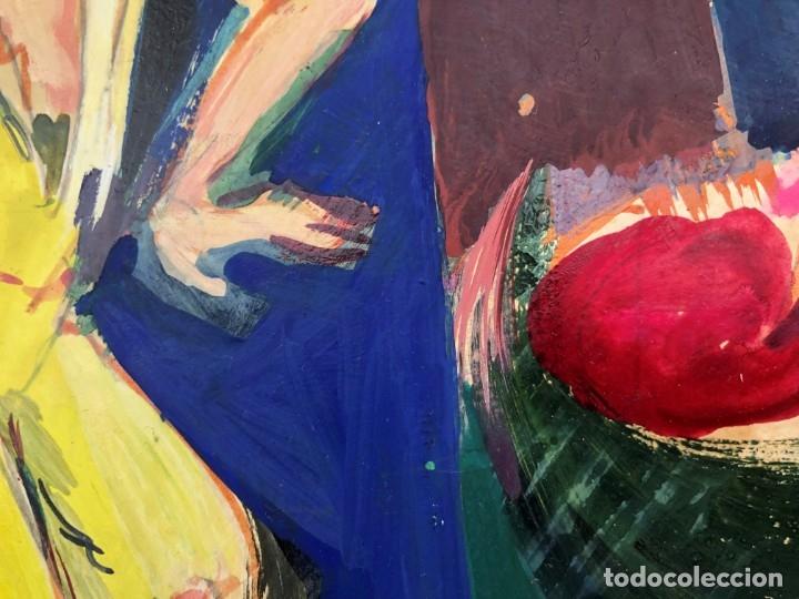 Arte: Ramon Aguilar Moré (Barcelona, 1924 - 2015) - Escena de baile - Acrílico - Foto 8 - 176548520