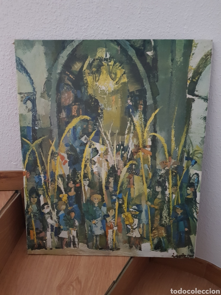 RAMON AGUILAR MORÉ POR IDENTIFICAR DOMINGO DE RAMOS (Arte - Pintura - Pintura al Óleo Moderna sin fecha definida)