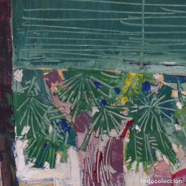 Arte: Oleo sobre papel de Joan capella arenas.vista a través de la ventana.gran calidad. - Foto 2 - 176606520