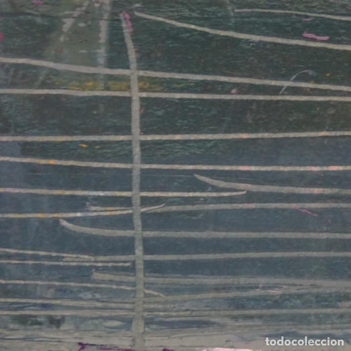 Arte: Oleo sobre papel de Joan capella arenas.vista a través de la ventana.gran calidad. - Foto 3 - 176606520