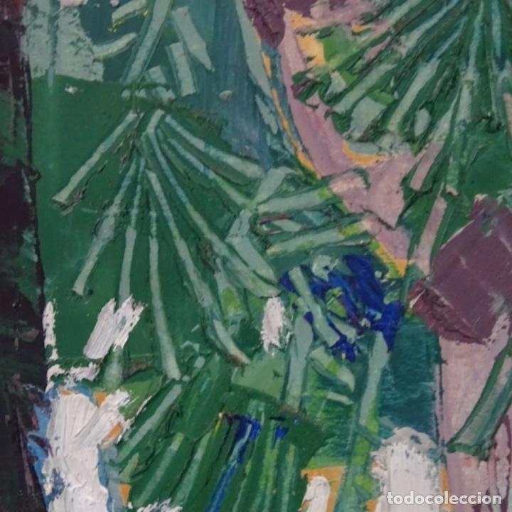 Arte: Oleo sobre papel de Joan capella arenas.vista a través de la ventana.gran calidad. - Foto 7 - 176606520
