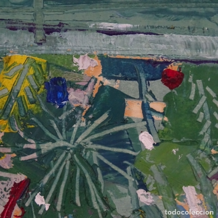 Arte: Oleo sobre papel de Joan capella arenas.vista a través de la ventana.gran calidad. - Foto 8 - 176606520