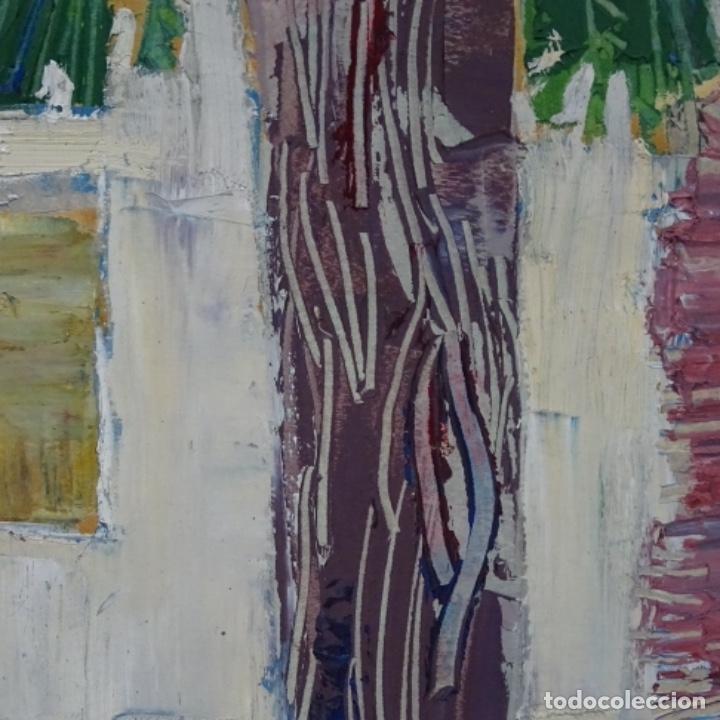 Arte: Oleo sobre papel de Joan capella arenas.vista a través de la ventana.gran calidad. - Foto 10 - 176606520