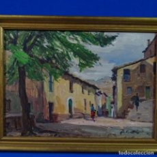 Arte: OLEO SOBRE TABLEX DE RAMON CORTES CASANOVAS.BUEN TRAZO.MURA?. Lote 176607165