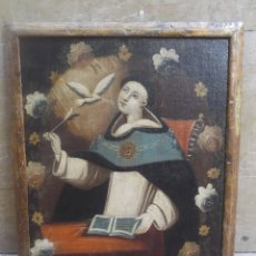 Arte: S.XVIII.SANTO TOMAS DE AQUINO CON MARCO ORIGINAL. Lote 176619493