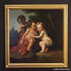 Arte: ANTIGUA PINTURA ITALIANA JUEGO DE QUERUBINES DEL SIGLO XVIII. Lote 176622343