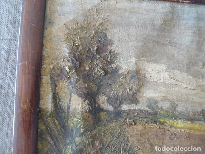 Arte: OLEO / TELA - FIRMADO C FERRER - PAISAJE RURAL - Foto 5 - 57147732