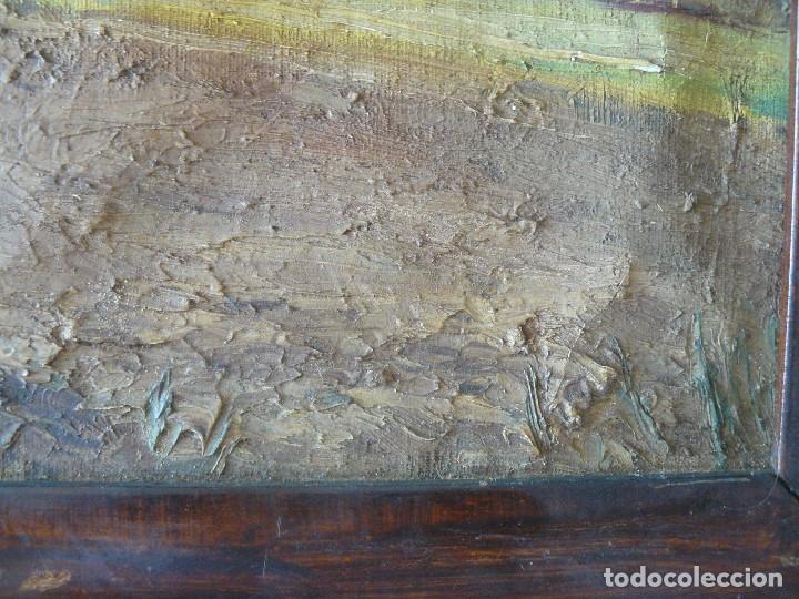 Arte: OLEO / TELA - FIRMADO C FERRER - PAISAJE RURAL - Foto 8 - 57147732
