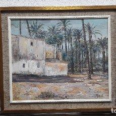 Arte: OLEO SOBRE LIENZO FIRMADO MONLLOR, PALMERAL ELCHE ALICANTE, MEDIDA LIENZO 55X46 CM , MARCO 68X59 CM. Lote 176630629
