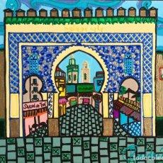 Arte: BOUJLOUD FEZ OBRA DE TEMÁTICA ORIENTALISTA DE RUTH CALDERÍN. Lote 176669750