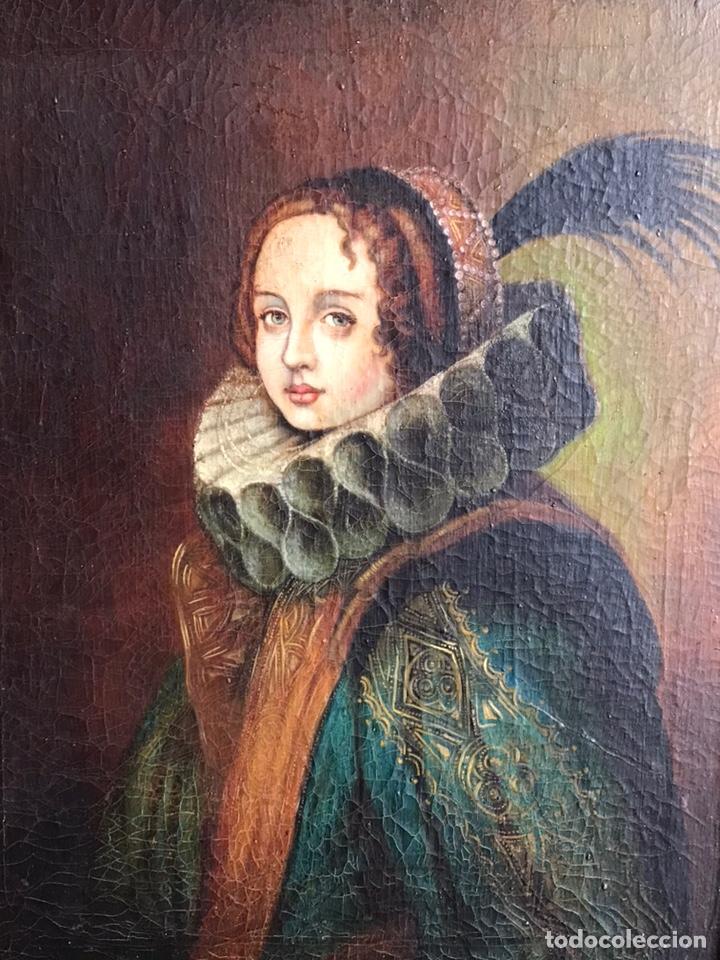 Arte: Retrato de Dama con Gorguera del S XIX, 47cmx55cm (marco) óleo sobre lienzo - Foto 3 - 176701495