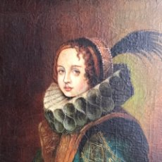 Arte: RETRATO DE DAMA CON GORGUERA DEL S XIX, 47CMX55CM (MARCO) ÓLEO SOBRE LIENZO. Lote 176701495