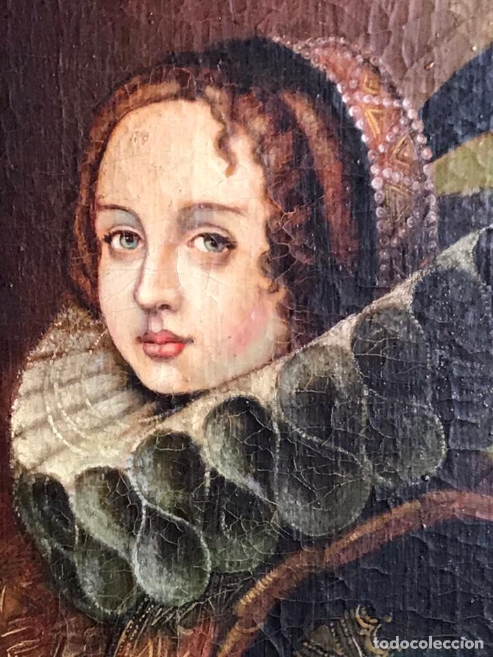 Arte: Retrato de Dama con Gorguera del S XIX, 47cmx55cm (marco) óleo sobre lienzo - Foto 4 - 176701495