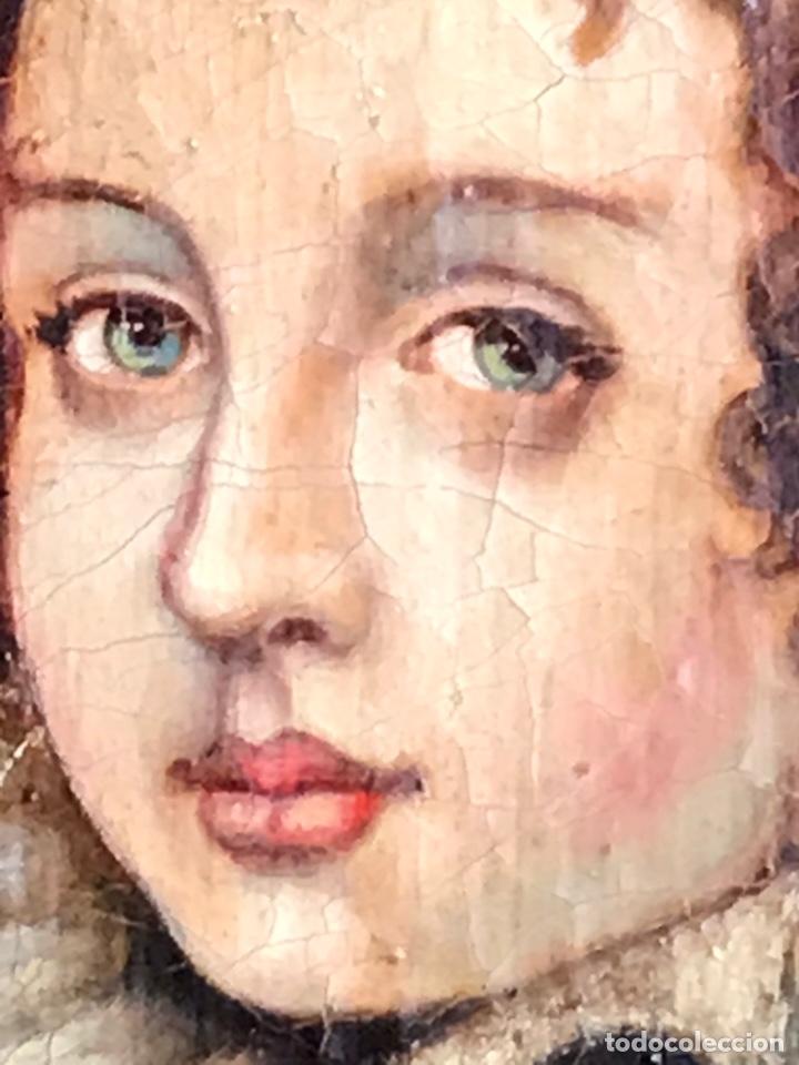 Arte: Retrato de Dama con Gorguera del S XIX, 47cmx55cm (marco) óleo sobre lienzo - Foto 5 - 176701495