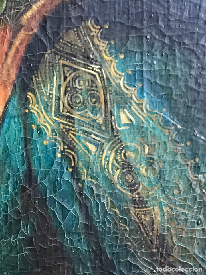 Arte: Retrato de Dama con Gorguera del S XIX, 47cmx55cm (marco) óleo sobre lienzo - Foto 6 - 176701495