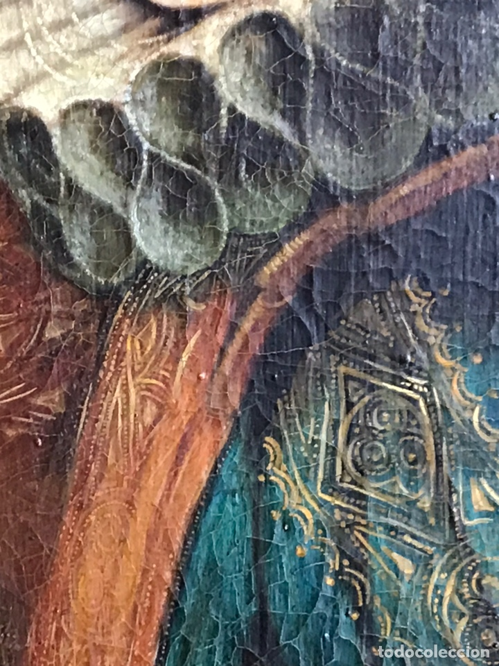 Arte: Retrato de Dama con Gorguera del S XIX, 47cmx55cm (marco) óleo sobre lienzo - Foto 7 - 176701495