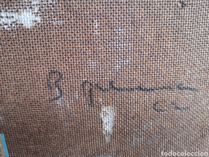 Arte: Pintura Fauvista, oleo sobre tablex, buena calidad. Firma ilegible, B.P.....? primera mitad s.XX, - Foto 4 - 176751755