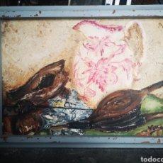 Arte: ESCUELA FRANCESA SEGUNDA MITAD DEL S.XX, OLEO SOBRE LIENZO, BODEGÓN, ENMARCADO Y FIRMADO.. Lote 176762205