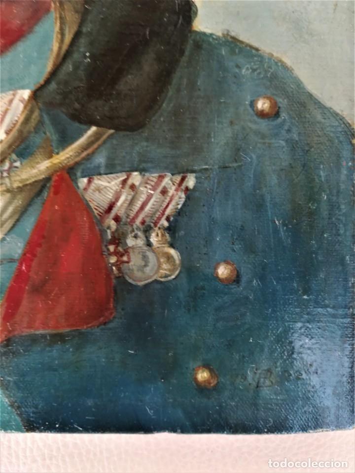 Arte: PINTURA,OLEO EN TELA,SIGLO XIX,CAPITAN DE CABALLERIA EJERCITO ESPAÑOL O POLACO?UNIFORME GALA,MEDALLA - Foto 3 - 176765399