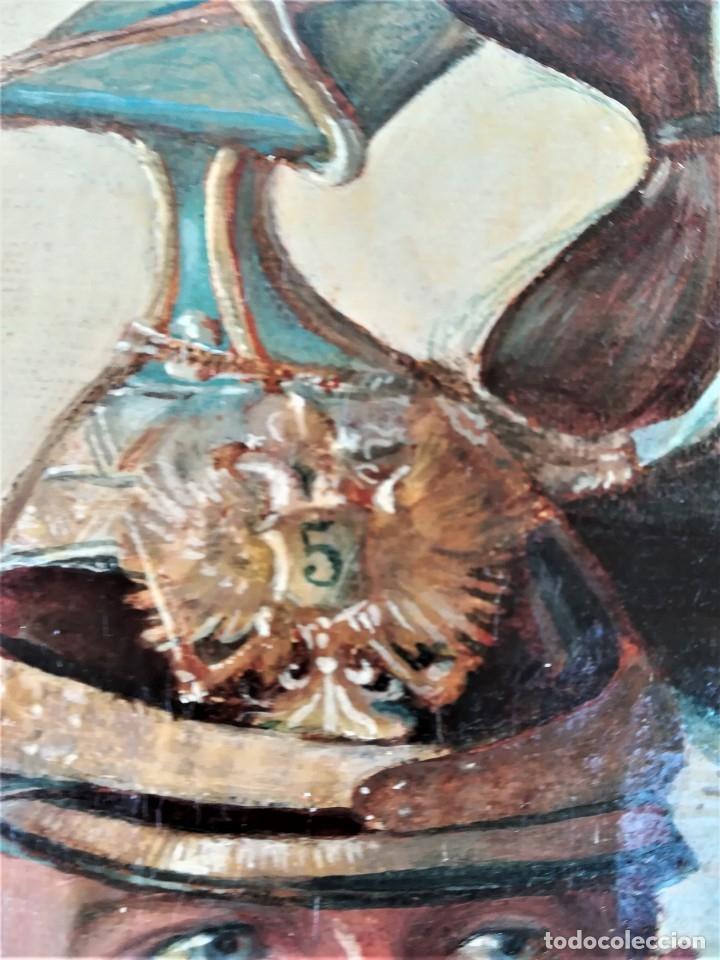 Arte: PINTURA,OLEO EN TELA,SIGLO XIX,CAPITAN DE CABALLERIA EJERCITO ESPAÑOL O POLACO?UNIFORME GALA,MEDALLA - Foto 5 - 176765399