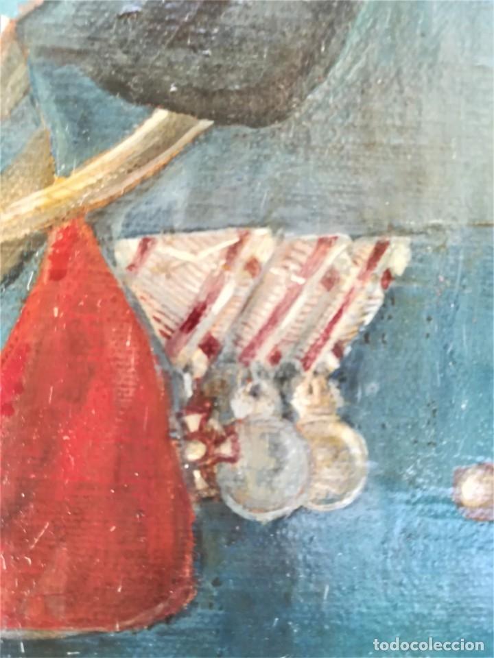Arte: PINTURA,OLEO EN TELA,SIGLO XIX,CAPITAN DE CABALLERIA EJERCITO ESPAÑOL O POLACO?UNIFORME GALA,MEDALLA - Foto 6 - 176765399