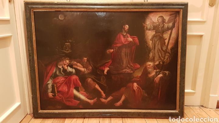 Arte: ESCUELA FLAMENCA SIGLO XVI ( 1580 ). OLEO SOBRE TABLA EN ROBLE DE AMBERES. JESÚS EN EL HUERTO. - Foto 2 - 176780552