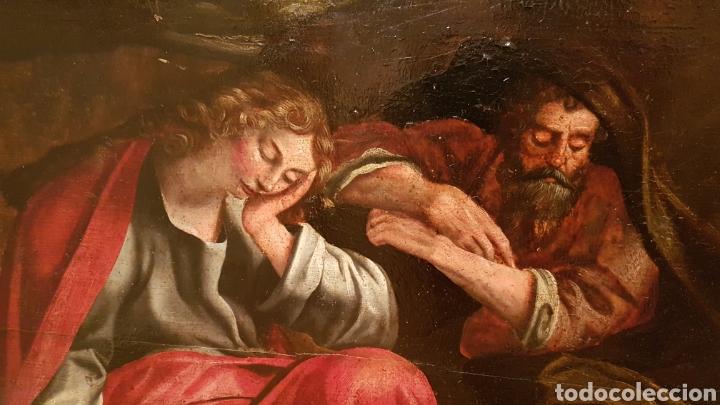 Arte: ESCUELA FLAMENCA SIGLO XVI ( 1580 ). OLEO SOBRE TABLA EN ROBLE DE AMBERES. JESÚS EN EL HUERTO. - Foto 3 - 176780552