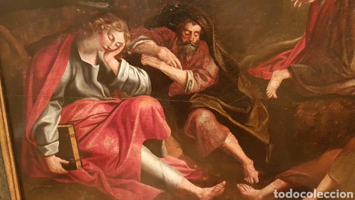 Arte: ESCUELA FLAMENCA SIGLO XVI ( 1580 ). OLEO SOBRE TABLA EN ROBLE DE AMBERES. JESÚS EN EL HUERTO. - Foto 4 - 176780552